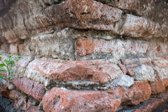 Remains of an antique brick structure. Remains of an antique red brick structure Royalty Free Stock Photography
