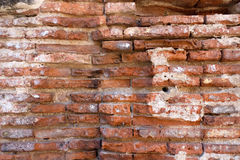 Remains of an antique brick structure. Remains of an antique red brick structure Royalty Free Stock Photos