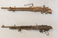 The remains antique firearms Royalty Free Stock Photo