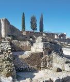Remains av den romerska civilisationen royaltyfri foto