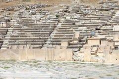 Remains av placerar i teater av Dionysus royaltyfria bilder