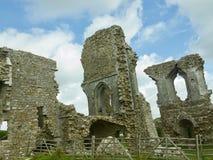 Remains av slottet arkivbild