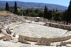 Remains av teatern av Dionysus royaltyfri bild