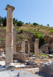 Remains of the basilca stoa, Ephesus, Turkey Stock Images