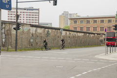 The remains of berlin wall in the city of Berlin Royalty Free Stock Photography