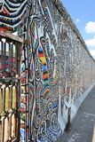 The remains of the Berlin Wall. At the East Side Gallery in Berlin Stock Photo