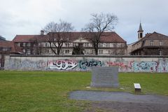 Remains of the berlin wall monument royalty free stock photos