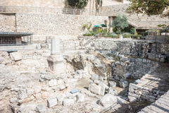 Remains of Bethesda Pool in Jerusalem Royalty Free Stock Photography