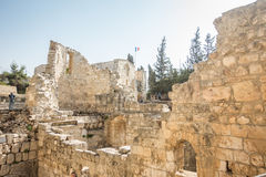 Remains of Bethesda Pool in Jerusalem Royalty Free Stock Photos