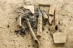 Remains of a Bonfire Royalty Free Stock Images