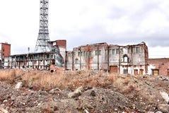 Remains brick buildings Royalty Free Stock Image