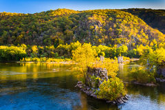 Remains of a bridge in the Shenandoah River, in Harper's Ferry, Stock Images