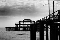 Remains of Brighton West Pier Stock Image