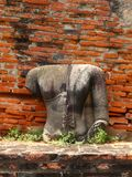 Remains  of  Buddha statue. At the temple of Phra Si San Phet in Ayutthaya near Bangkok, Thailand Stock Images