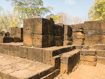 Remains of a building Khmer style. Remains of a building at the Prasat Muang Sing Historical Park in Khmer style Stock Photo