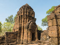Remains of a building Khmer style. Remains of a building at the Prasat Muang Sing Historical Park in Khmer style Stock Photography