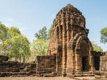 Remains of a building Khmer style. Remains of a building at the Prasat Muang Sing Historical Park in Khmer style Royalty Free Stock Image