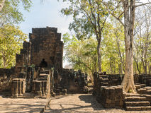 Remains of a building Khmer style. Remains of a building at the Prasat Muang Sing Historical Park in Khmer style Royalty Free Stock Photography