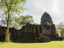 Remains of a building Khmer style. Remains of a building at the Prasat Muang Sing Historical Park in Khmer style Stock Image