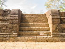 Remains of a building Khmer style. Remains of a building at the Prasat Muang Sing Historical Park in Khmer style Stock Images