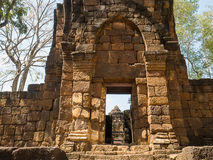 Remains of a building Khmer style. Remains of a building at the Prasat Muang Sing Historical Park in Khmer style Royalty Free Stock Photo