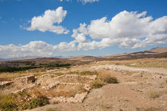 Remains of buildings of the ancient inhabitants of the mountains of the Middle East Stock Images