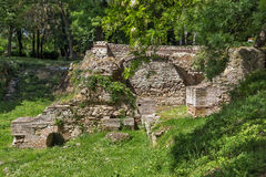 Remains of the builings in the ancient Roman city of Diokletianopolis, town of Hisarya, Bulgaria Royalty Free Stock Photo