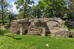 Remains of the builings in the ancient Roman city of Diokletianopolis, town of Hisarya, Bulgaria Stock Image