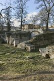 Remains of the builings in the ancient Roman city of Diokletianopolis, town of Hisarya, Bulgaria
