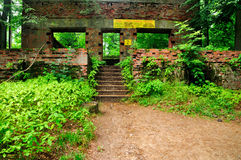 Remains of Bunkers of Wolfsschanze. Remains of the bunkers of Wolfsschanze, one of Hitler's headquarters during the second world war in poland Royalty Free Stock Image