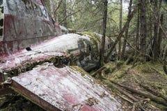 Airplane crash remains Royalty Free Stock Photo