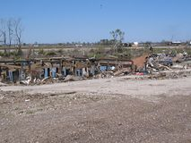 Aftermath of Hurricane Katrina near Lake Ponchartrain stock photography