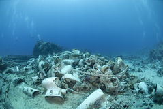 Remains of the cargo of a shipwreck. Stock Image