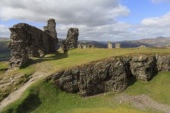 Remains of Castell Dinas Bran Stock Photo