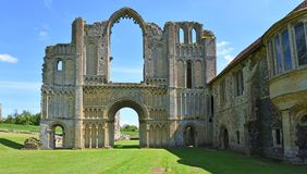The remains of Castle Acre Priory Norfolk stock image