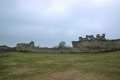 The remains of the Castle Hill. The remains of the gate tower on Castle Hill royalty free stock image