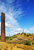 Remains of Chillago smelter. Chillago smelter was used for copper, silver, lead and gold Stock Image