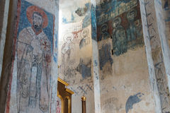 Remains of Christian frescoes Royalty Free Stock Photography