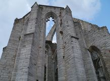 Remains of a church in Visby in Sweden Stock Photography
