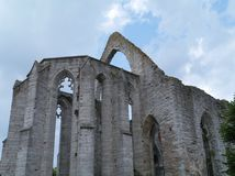 Remains of a church in Visby in Sweden Royalty Free Stock Photos
