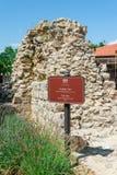 Remains of city gates of historic city Nin, Croatia Royalty Free Stock Photos