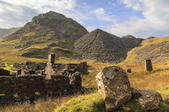 The remains of Conglog Quarry buildings Stock Photos