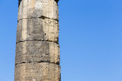 Remains of Corinthian column in Olympia, Greece Stock Images