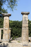 Remains of Corinthian column in Olympia, Greece Stock Photography