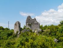 The remains of a Croatian castle Royalty Free Stock Photo