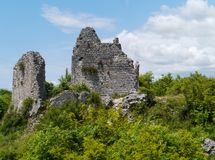 The remains of a Croatian castle Stock Photography