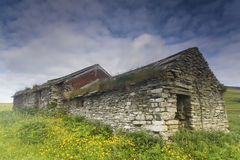 The remains of a Crofter's Hut in Orkney, Scotland Stock Image