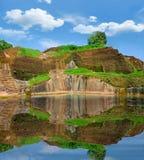 Remains da associação do palácio em Sigiriya imagem de stock