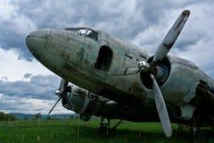 Remains of a Dakota DC3 aircraft Stock Photography