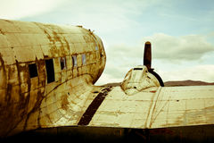 Remains of a Dakota DC3 aircraft Royalty Free Stock Image